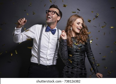 Couple dancing in studio shot