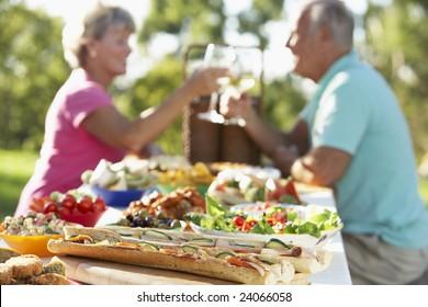 Couple Dining Al Fresco