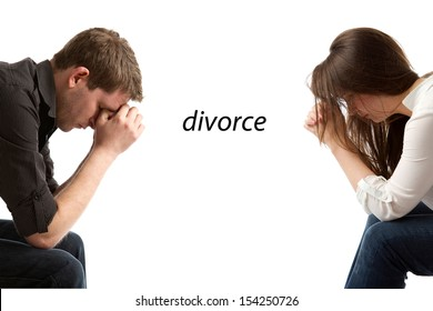 couple in divorce crisis