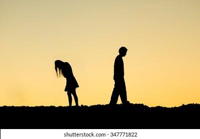 couple ending relationship