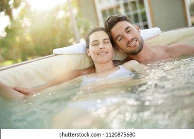 Couple enjoying relaxing time