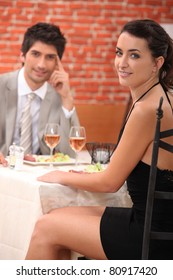 Couple enjoying a romantic meal together