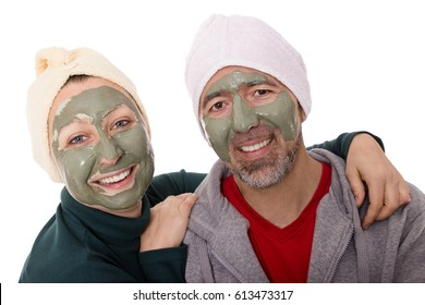 A couple is enjoying the wellness together