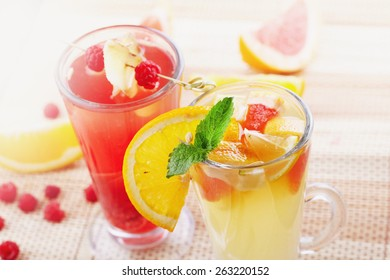 Couple of fruit cocktails