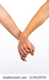 Couple of girls holding hands