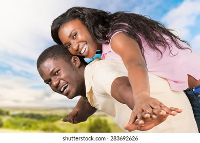 Couple, Happiness, Cheerful.