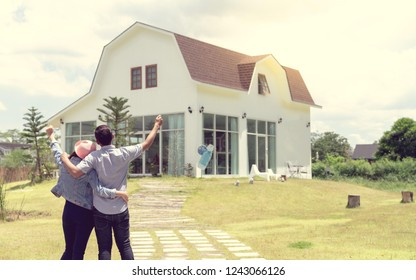 Couple happy to have moved into the new home of their dreams