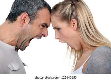 Couple having a screaming match