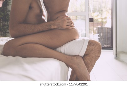 Couple lifestyle moments in the bedroom