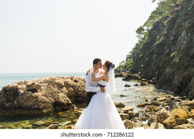 Couple Love Beach Romance Togetherness Concept