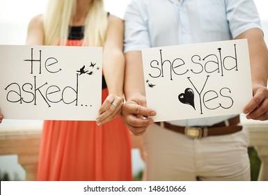 couple in love, engagement, romantic