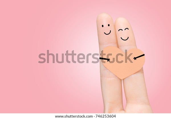 Couple in love with fingers