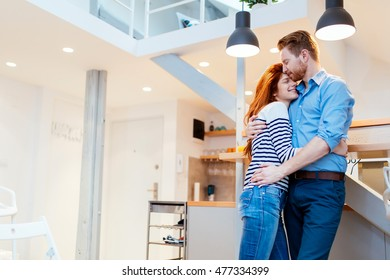 Couple in love hugging to show their feelings