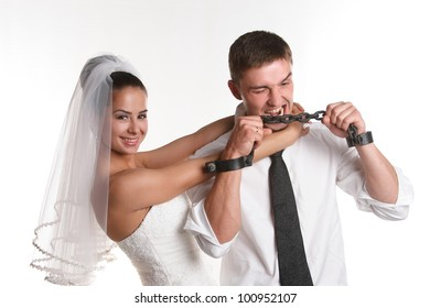 couple in love on studio shooting