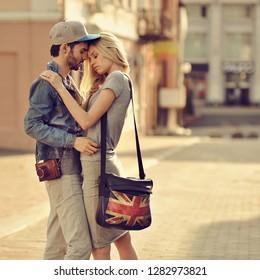 Couple in love - outdoor portrait