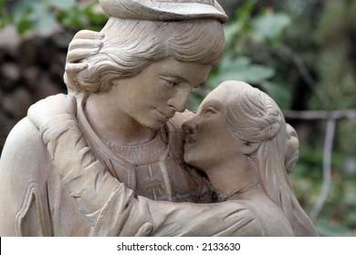 Couple in love statue