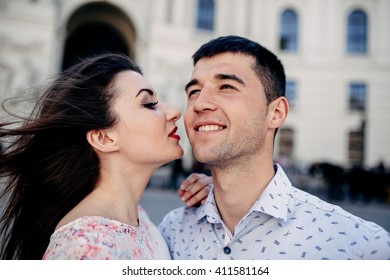 The couple in love in Vienna