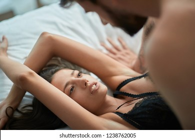 Couple making love, Young Man and woman pleasure in sex