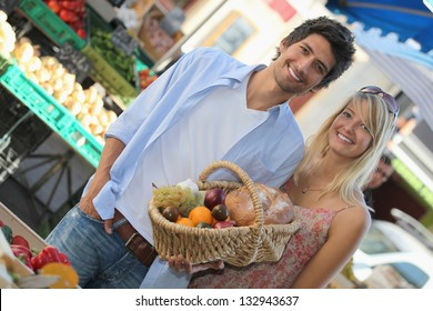 Couple at market