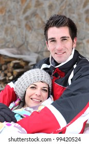 Couple in the mountains