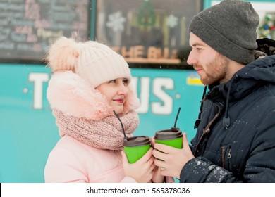 couple with Mug Outdoor