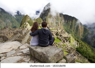 Couple near Machu Picchu