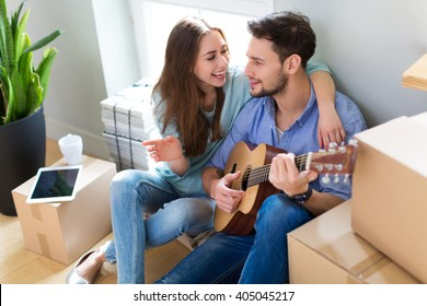 Couple in new flat