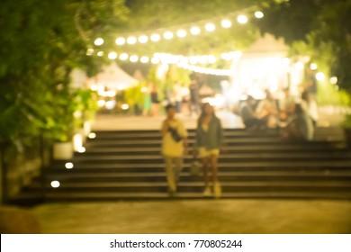Couple at night market
