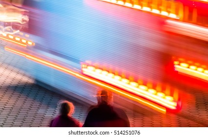 Couple observing the ambulance passing - long time exposure