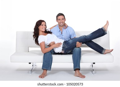 Couple on a couch