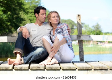 couple on pontoon