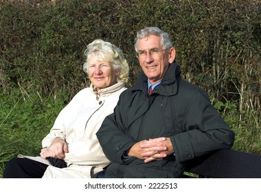 Couple on a Roadside Bench