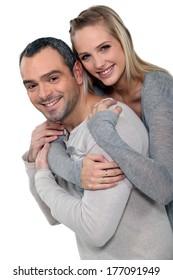 couple portraitHappy couple hugging