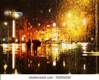 Paar Regen Regenschirm Stockfotos Bilder Und Fotografie