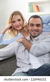 couple relaxing in the lounge