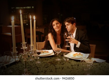 a couple at restaurant