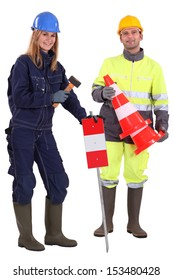 A couple of road workers.