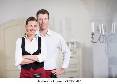 Couple running a restaurant
