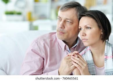 couple is sad