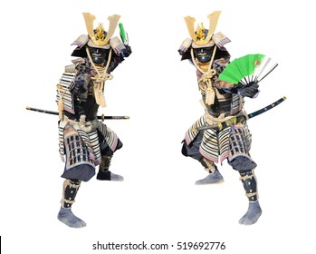 couple samurai armor
