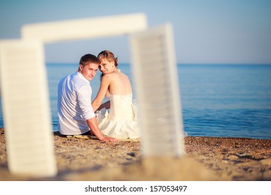 the couple at the sea. rest