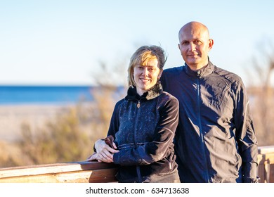 Couple at the seaside in Spain