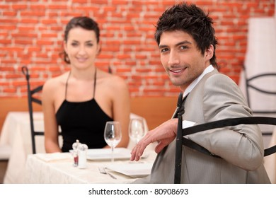 Couple sharing a romantic dinner together
