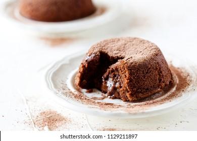 Couple of small homemade chocolate mud cakes