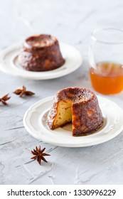 Couple of small homemade christmas sponge puddings