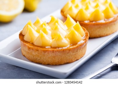 Couple Of Some Small Sweet Homemade Lemon Pies