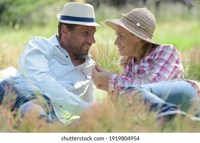 couple spending quality time together in a park