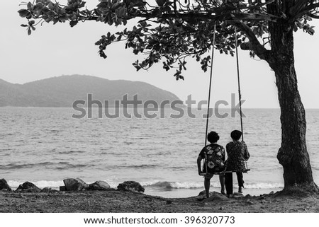 black and white couples swinging