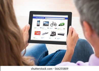 Couple Tablet Online Shopping