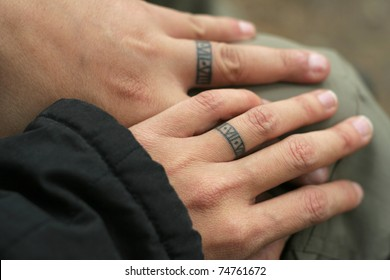 couple tattoo ring